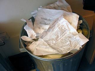 Newsroom trash